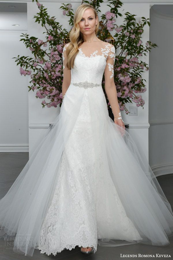A Line Long Sleeve Trumpet Wedding Dresses