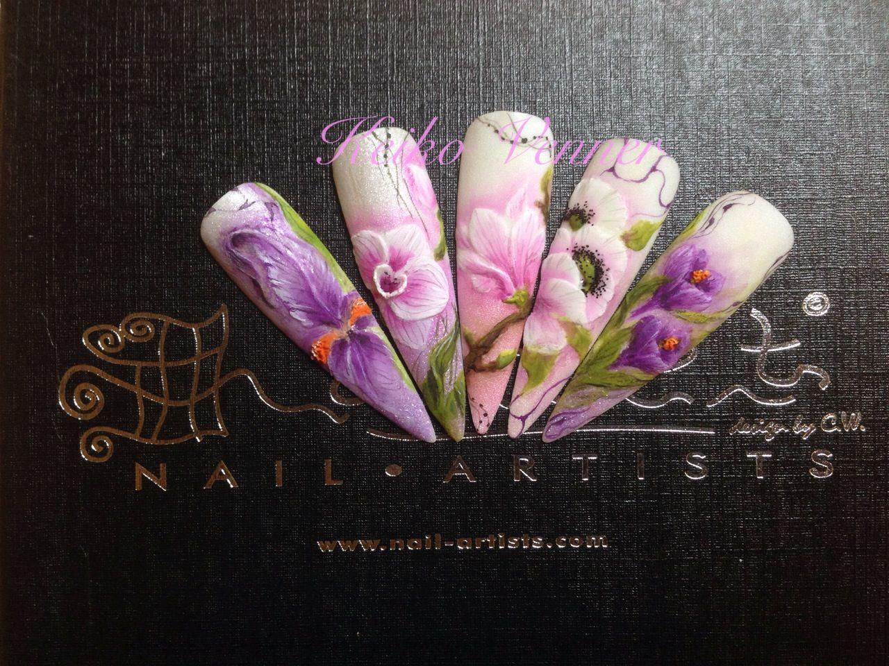 Acrylic flat 3d spring garden nail art | 3 d nails | Pinterest ...