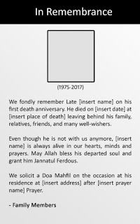 Death anniversary advertisement format anniversaries death and sample death anniversary advertisement for newspaper stopboris Image collections