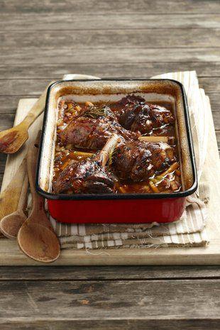 Oondgebraaide lamskenkels | Oven baked lamb shanks