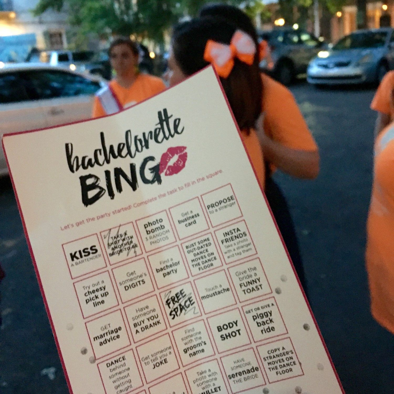 Bachelorette Bingo Scavenger Hunt played in New