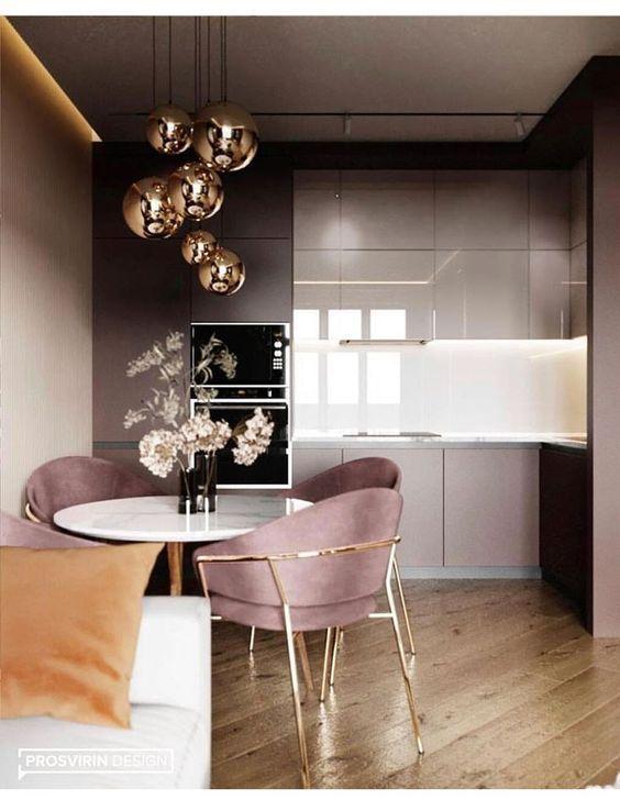 Dining Room 307089268341677393 - Tables de cuisine rondes pour cuisines modernes Le design des maisons évolue et évolue avec la mode et les tendances.Lorsque des tendances minimales se manifestent, tout change, des rideaux de n… DECORATION DE LA CHAMBERS Source by nusya84