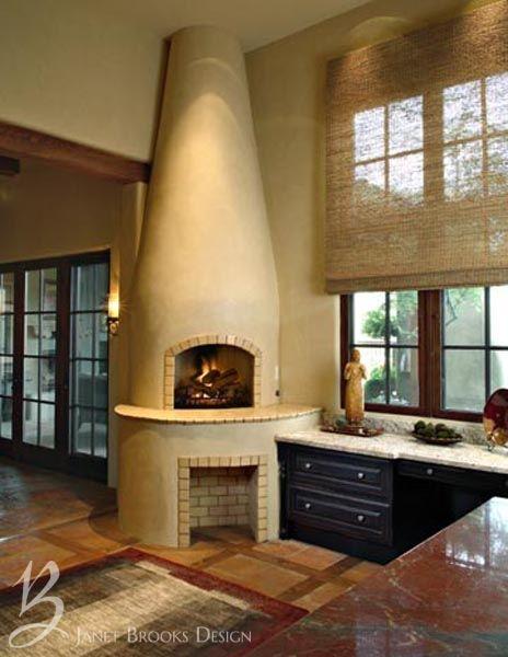 Portfolio Janet Brooks Design Kitchen Fireplace Southwestern Home Luxury Interior Design