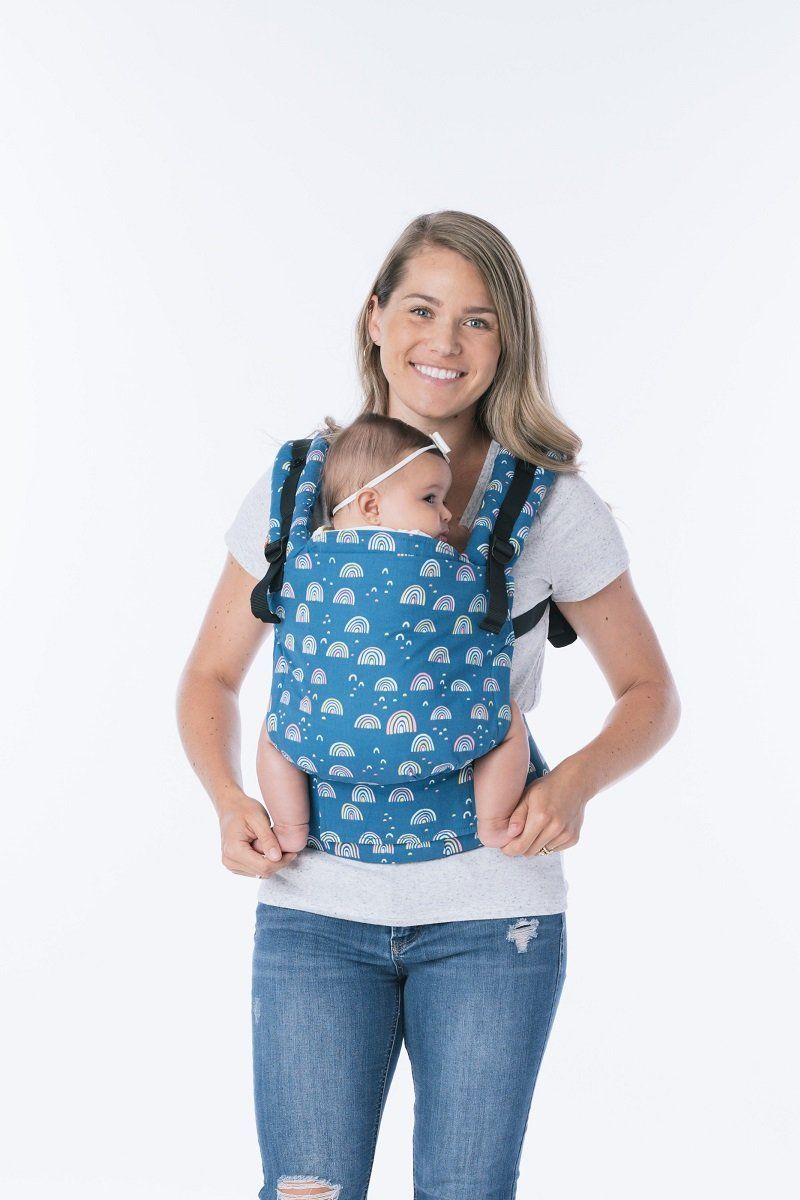 c26f8d5ef74 Baby Tula s Free-to-Grow  Dreamy Skies  baby carrier has a panel that  adjusts to provide an ergonomic seat for baby as they grow from early  infancy to ...
