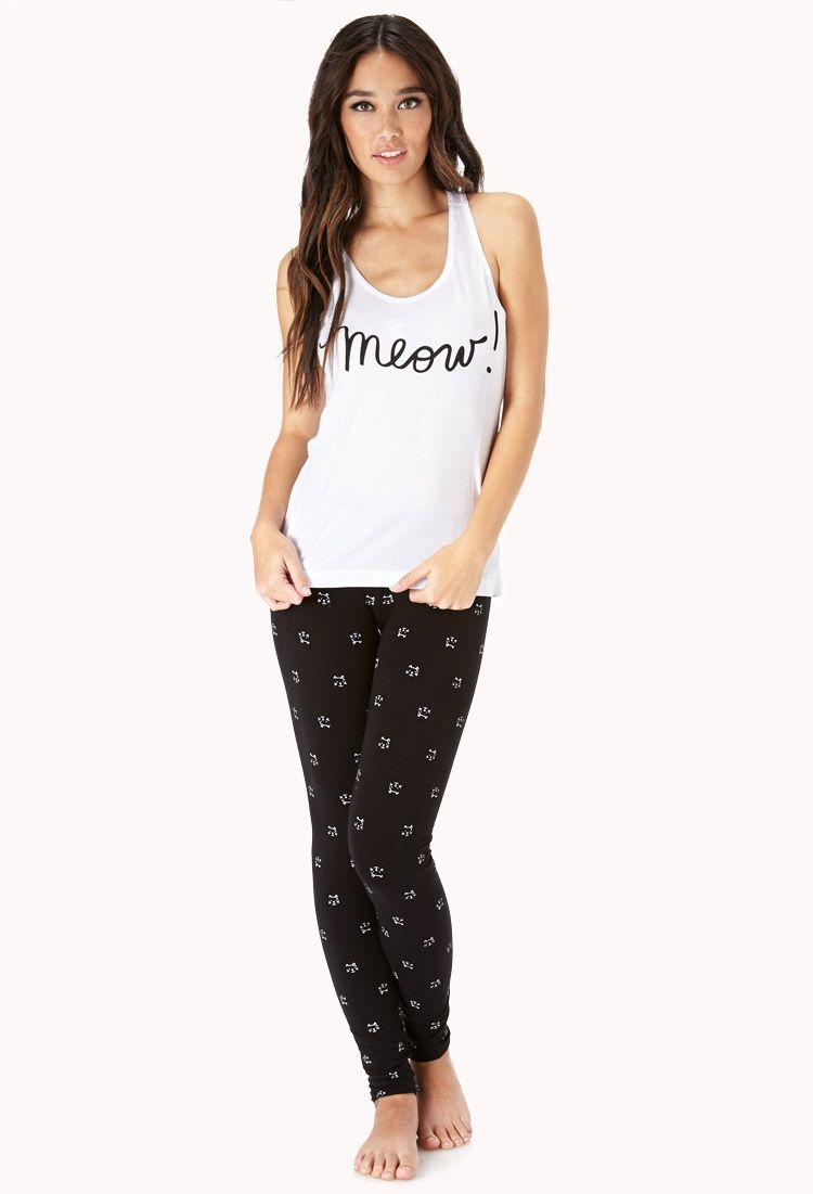 Cool Cats PJ Set FOREVER21 Dainty dress, Women, Fashion