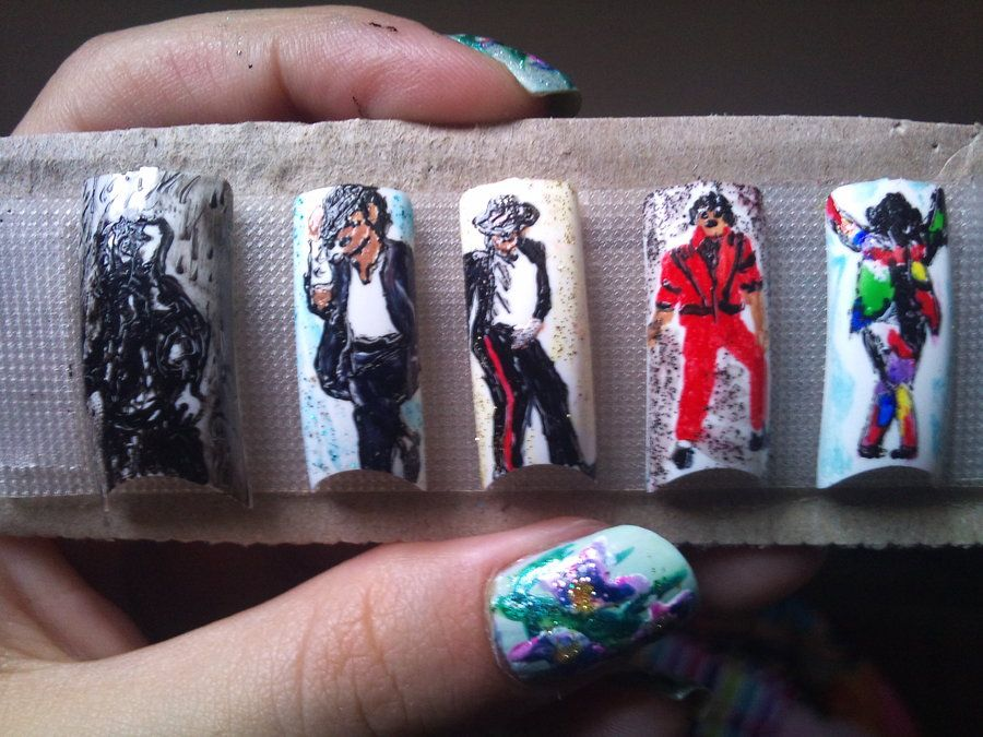 Michael Jackson nail art   Nail Polish!   Pinterest   Michael ...