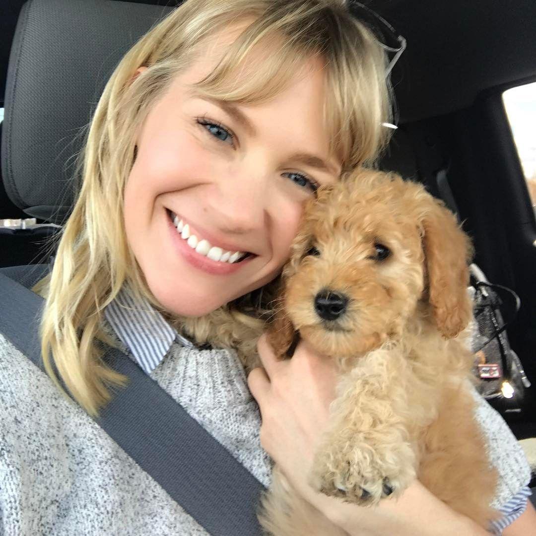 January Jones Has A New Best Friend Named Joey Dog Pictures Instagram Posts January Jones