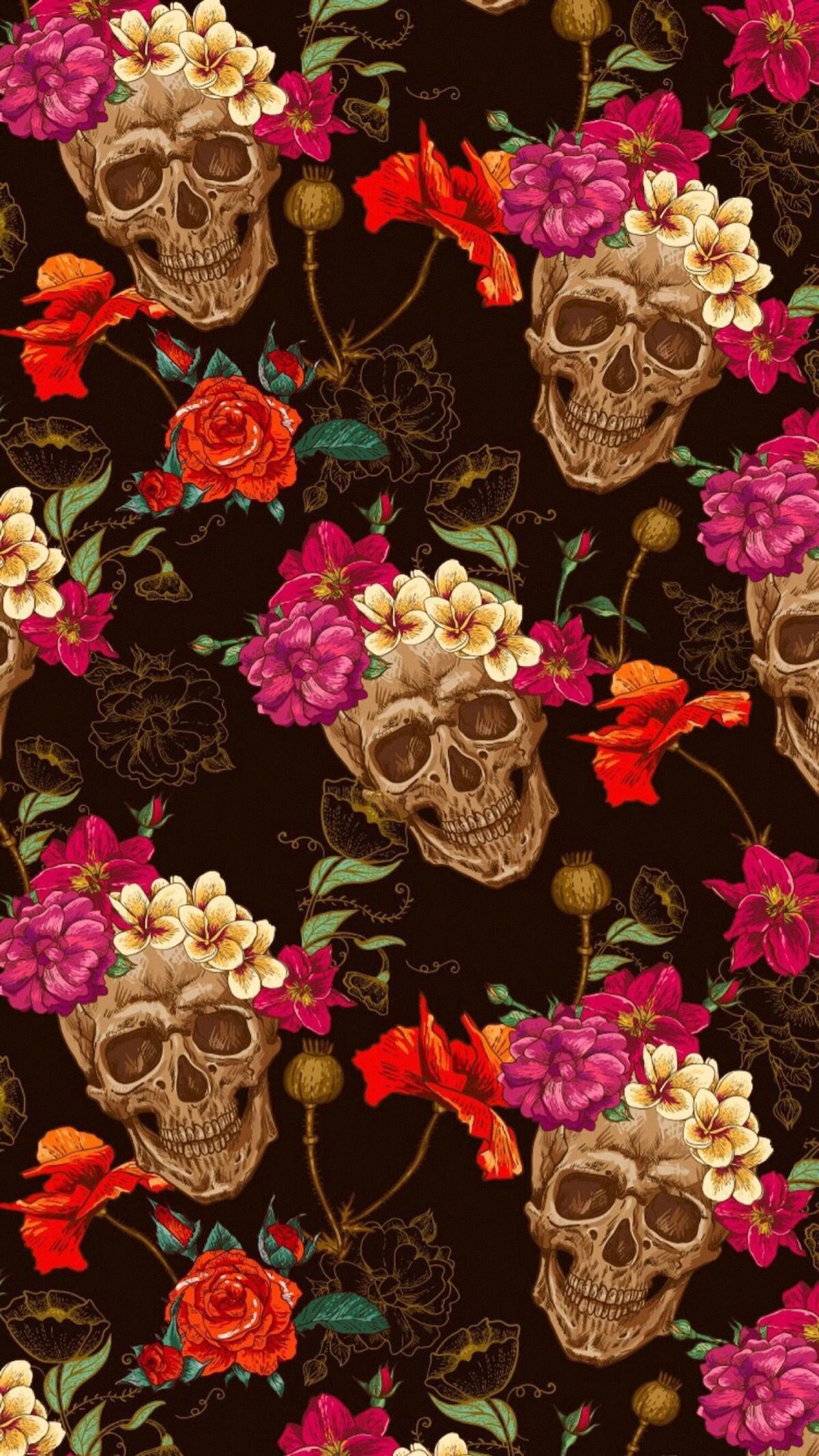 Idea By Mireina On Aesthetics Skull Wallpaper Sugar Skull