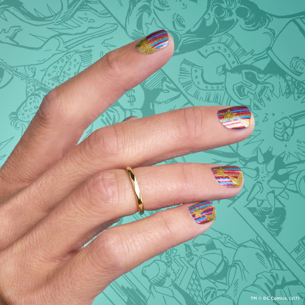 Wonder Woman Collection by Jamberry | DC Comics nail art | Pinterest ...