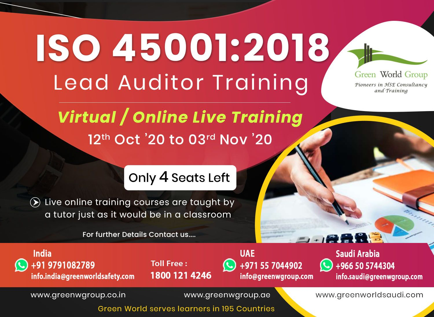 Enroll iso 450012018 lead auditor course in chennai
