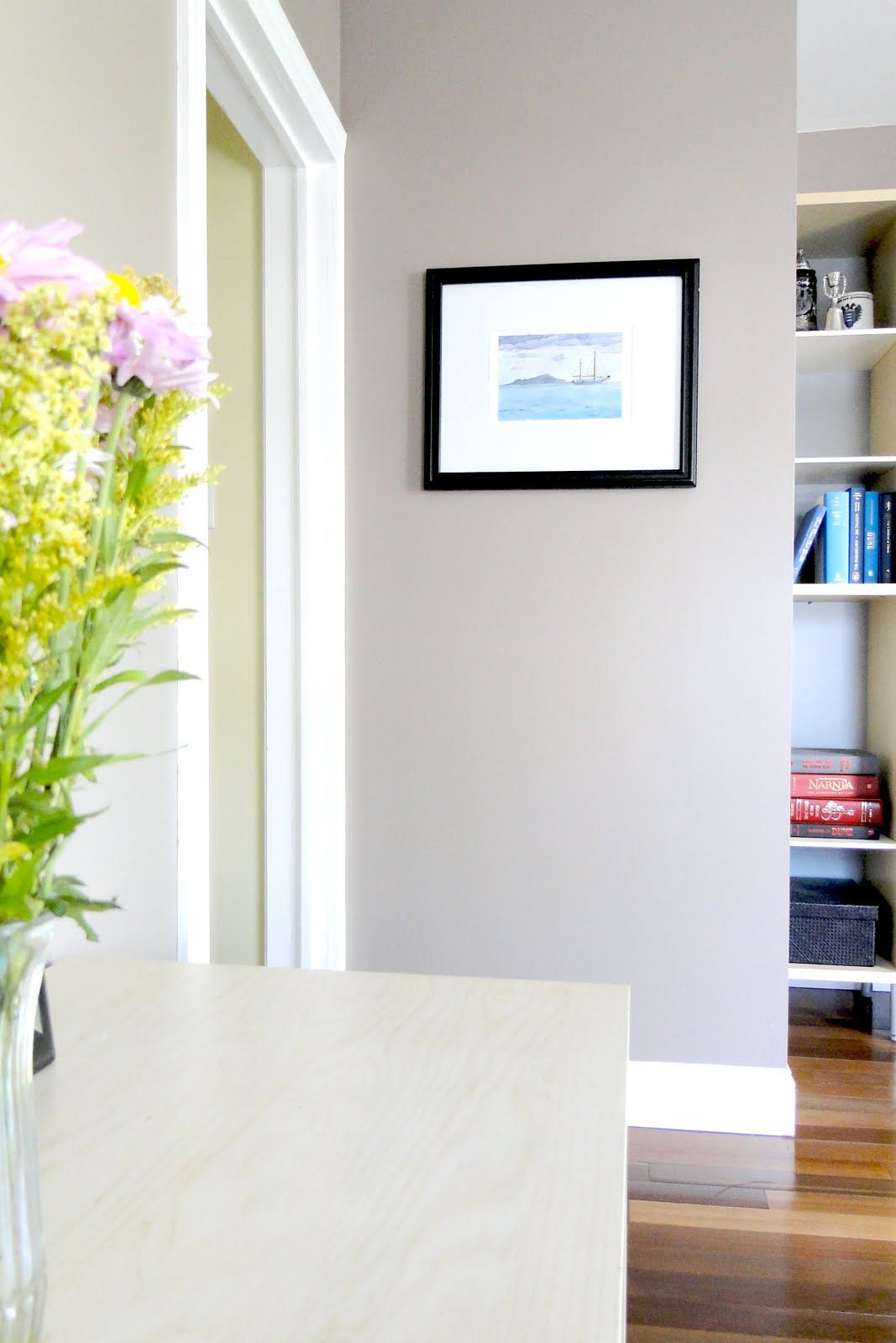 Behr Dolphin Fin - A Lovely Lark: back room | Guest room wall color ...