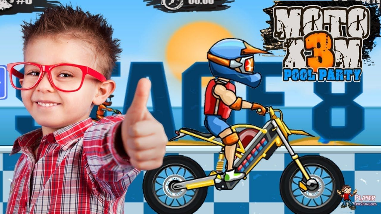 Moto X3m 5 Pool Party Bike Racing Game New Update