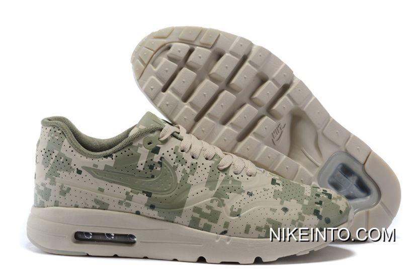 Nike Air Max 1 Ultra Moire oreo Black White Running Shoe