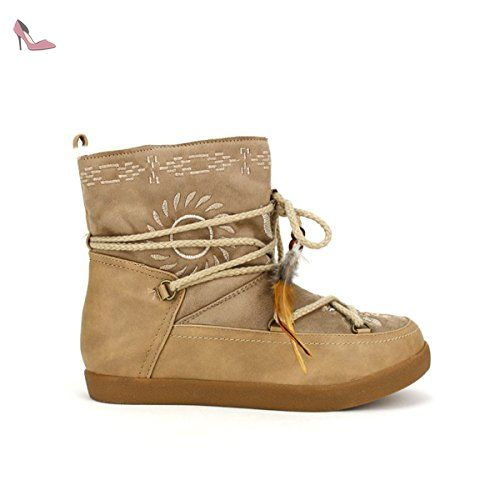 234efee2af0e65 Cendriyon, Bottines Fourrées Beige TIWAKI Chaussures Femme Taille 37 - Chaussures  cendriyon (*Partner