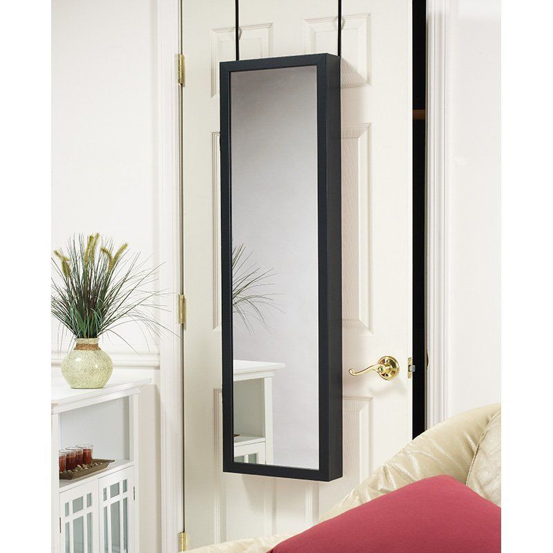 Mirrotek Plaza Astoria Over The Door / Wall Mount Jewelry Armoire With Full  Length Mirror