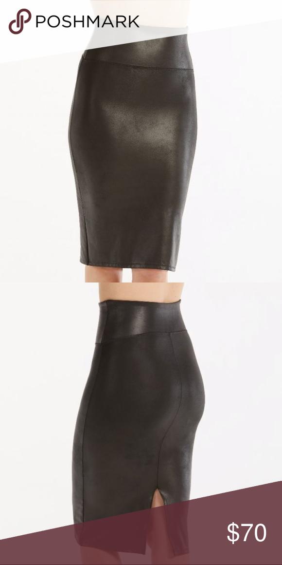 5a579299b Spanx faux leather pencil skirt NWT NWT SPANX Skirts | My Posh ...