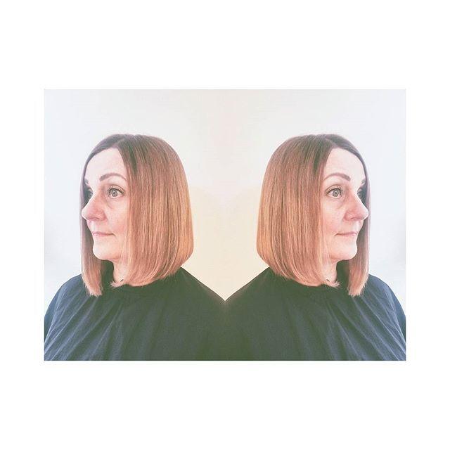 Hyvä tukka, parempi mieli. ❤🌸🌟 #hairstylist #rosecold #ombrehair #longbob #lobhair #haircut#haircolor
