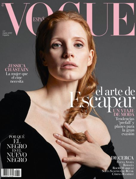 Jessica Chastain by Mario Sorrenti Vogue Spain June 2017