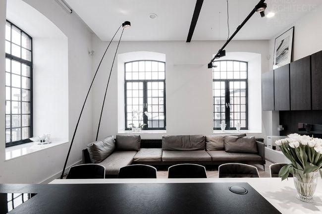 Interieurs Design Noir Et Blanc Loft Appart Pinterest Loft