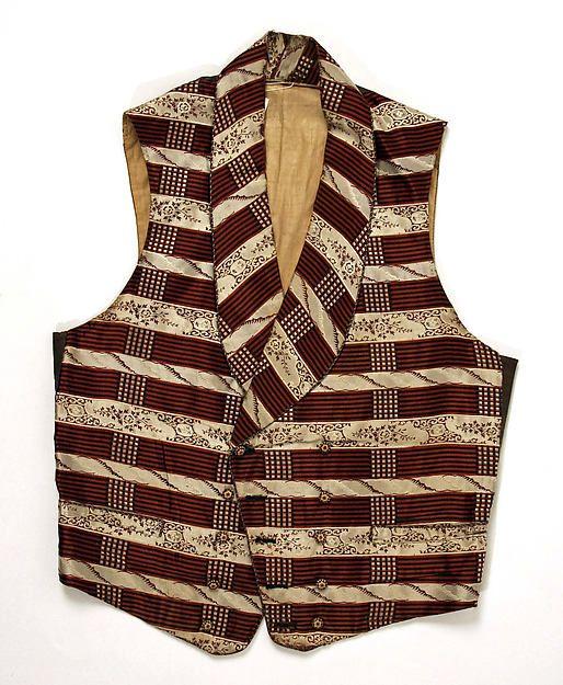 4b5ce4c07d c. 1850s) American waistcoat made of silk.