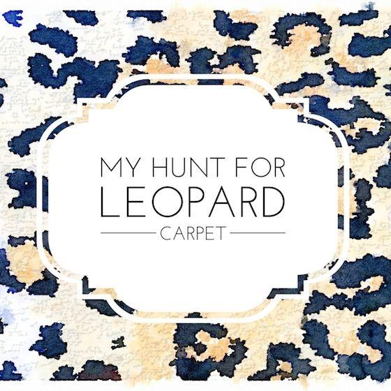 Best One Room Challenge Week 2 Leopard Carpet Leopard 400 x 300