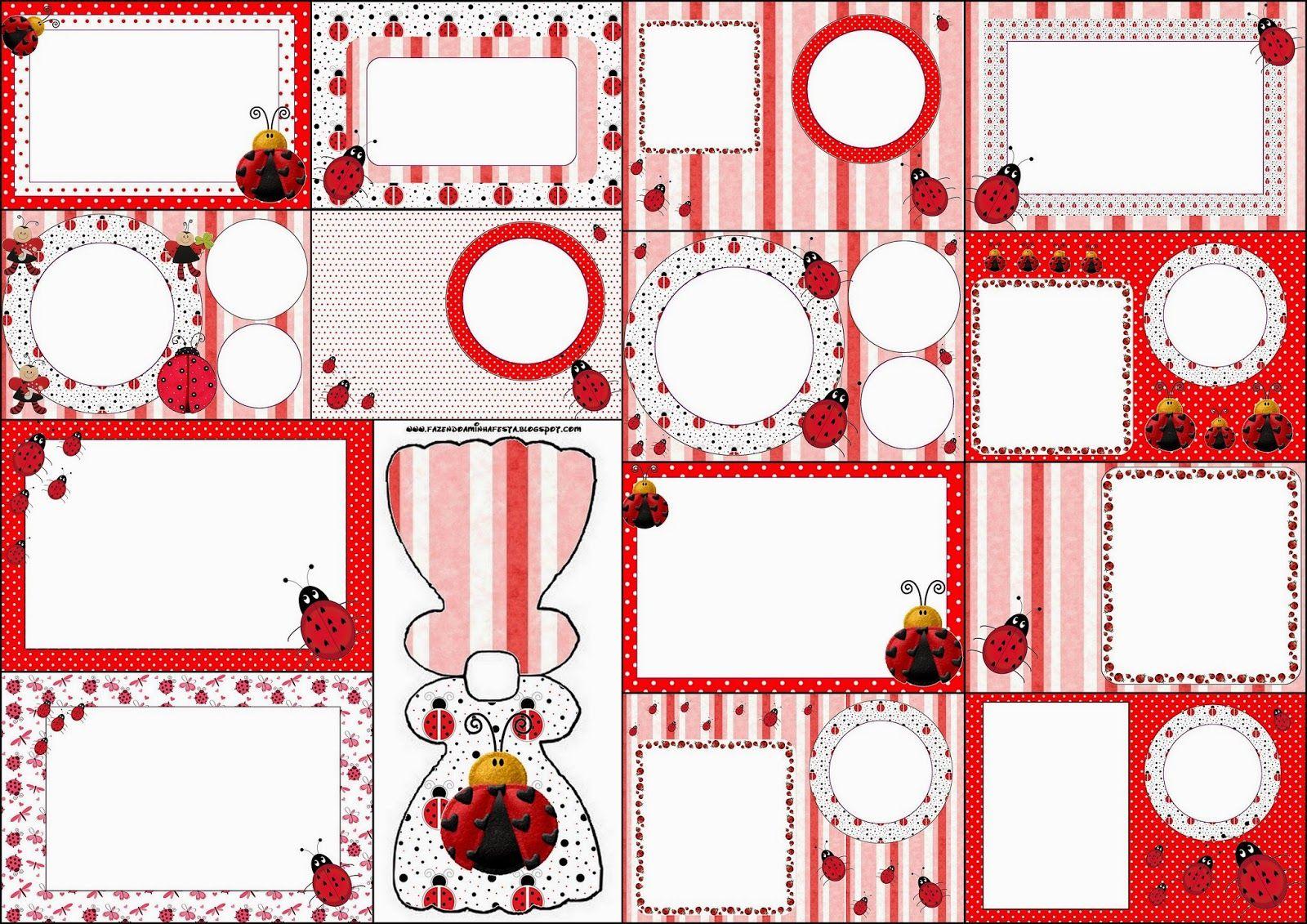 Ladybugs: Free Printable Invitations.   Diy\'s   Pinterest   Free ...