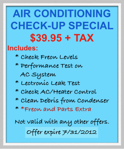 Air conditioning check up special coupon. Claim it at our