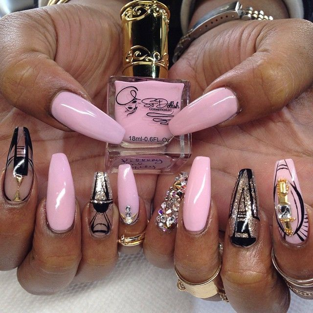Dope Nails Pink Glam Queen