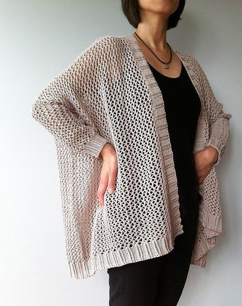 1d515a59d79c86 Angelina - easy trendy cardigan (knit) Knitting pattern by Vicky Chan  Designs