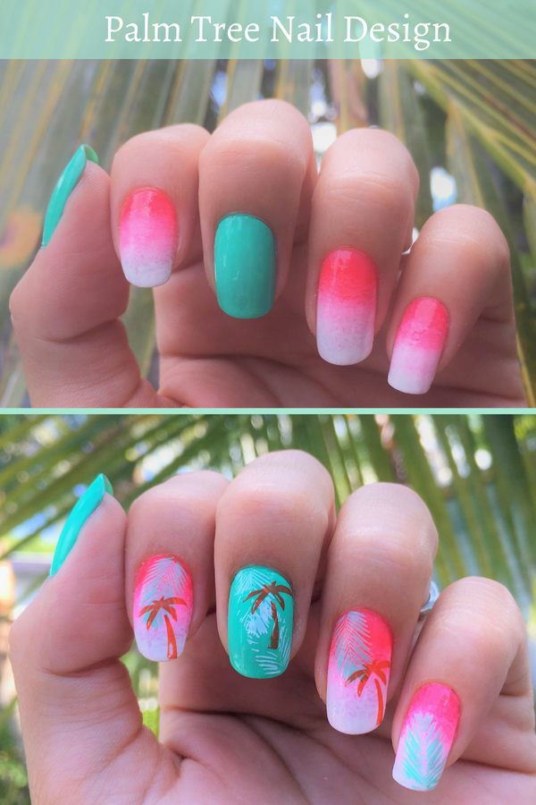 Palm Trees Nail Design To Create During Summer Cool Nail Designs