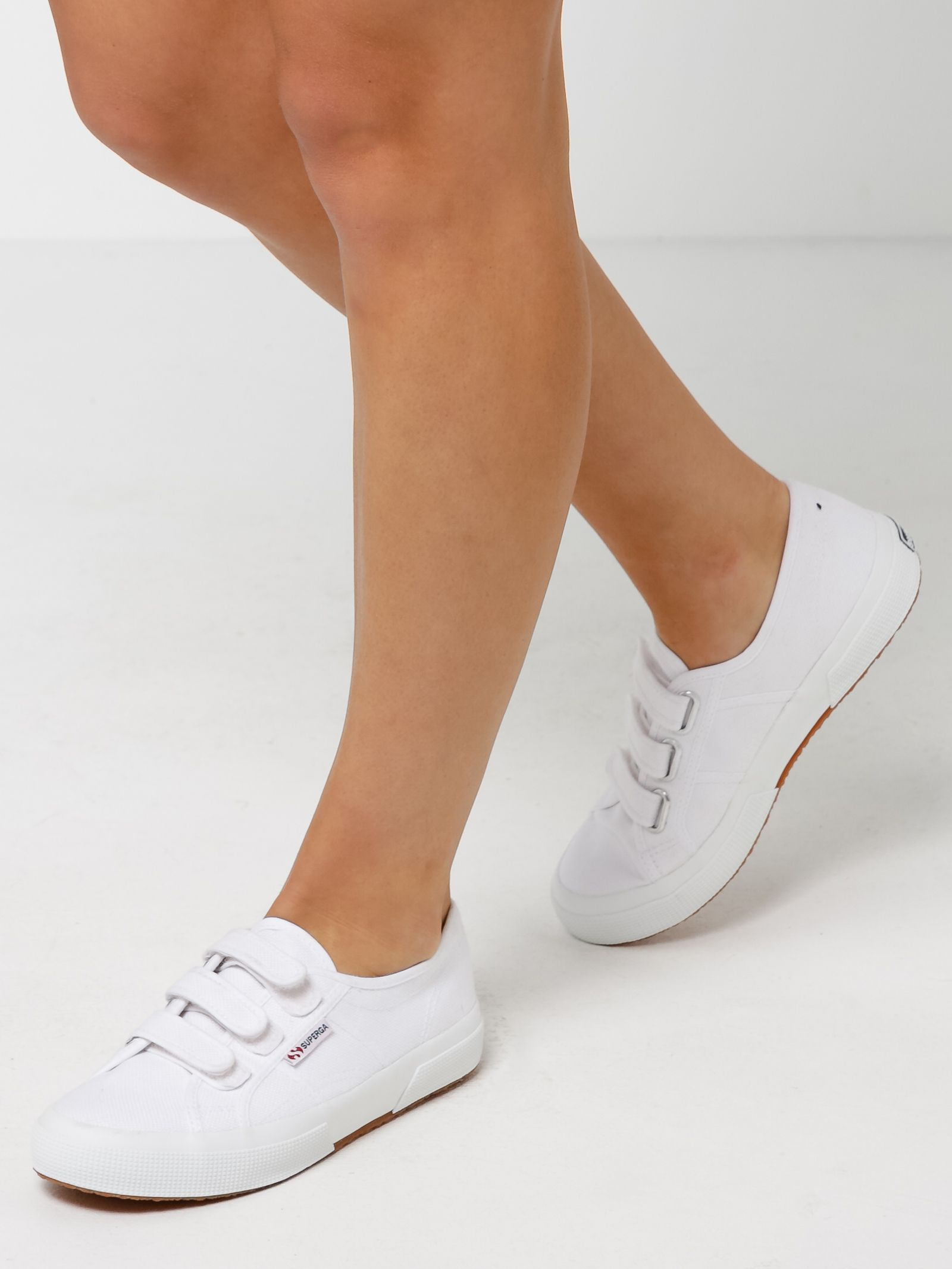14d94e05b5 Buy Unisex 2750 Cotu 2 Velcro Strap Sneaker in White by Superga of White  color for only  89.99 at Glue Store. Unisex WHITE 2750 COTU 2 VELCRO STRAP  SNEAKER ...