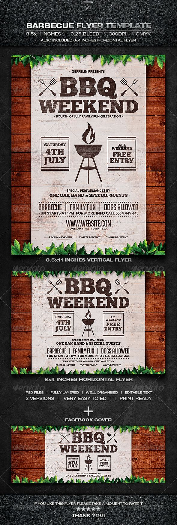 barbecue flyer template  barbeque poster  fourth of july