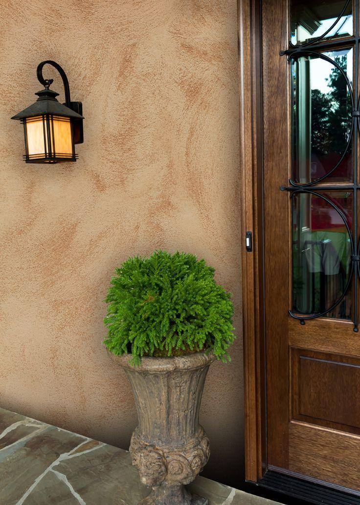 Resultado de imagen de pintura exterior color arena en - Efectos pintura paredes ...