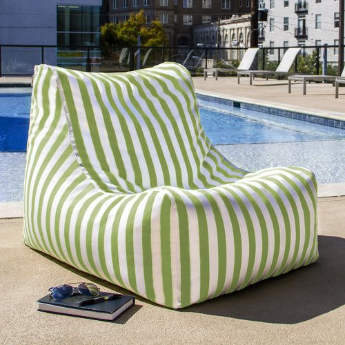 Ponce Outdoor Small Outdoor Friendly Bean Bag Chair Lounger Bean Bag Lounge Chair Outdoor Bean Bag Outdoor Bean Bag Chair