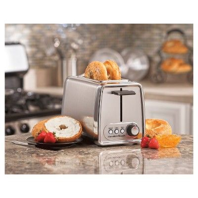 Hamilton Beach Modern Chrome (Grey) 2-Slice Toaster- 22791
