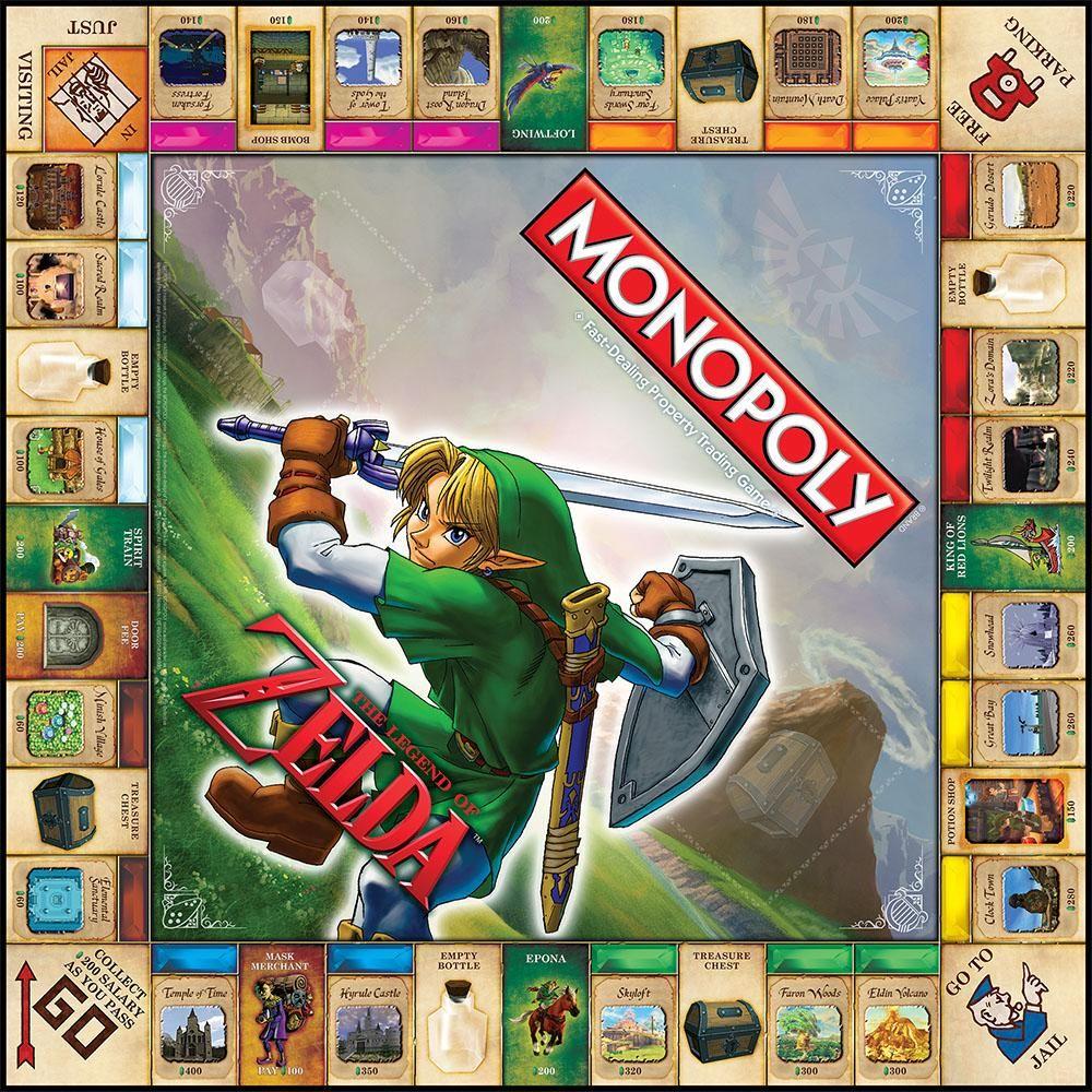 Zelda Monopoly seegullmedia Legend of zelda, Board