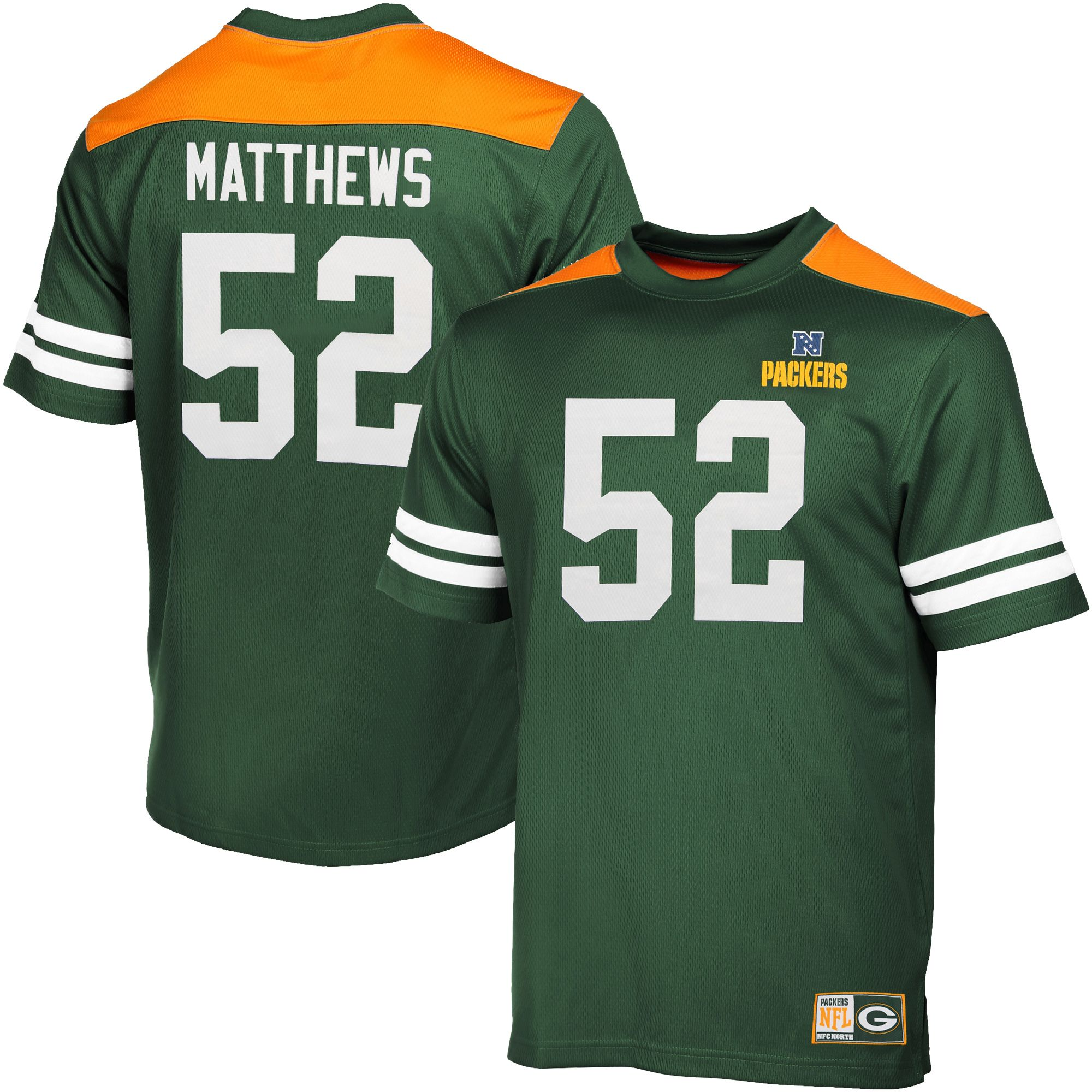 1c5df9434 NFL Clay Matthews Green Bay Packers Majestic Hashmark II T-Shirt - Green
