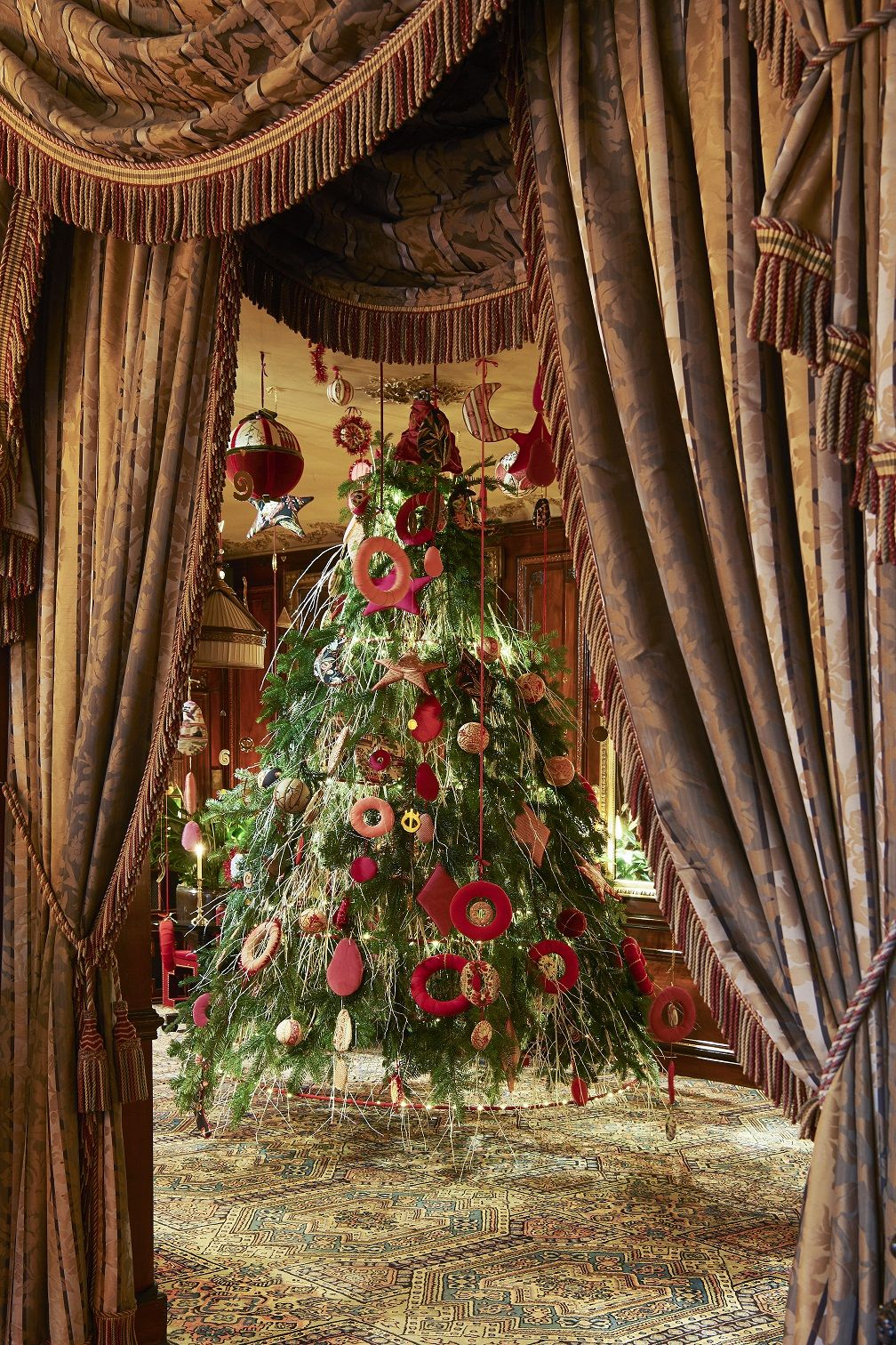 La Maison Pierre Frey at the Hotel Costes for Christmas © Adrien Dirand