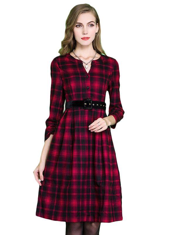 Kupuj Tanio W Krat Sukienka Plus Size Z Paskiem W Jollychic