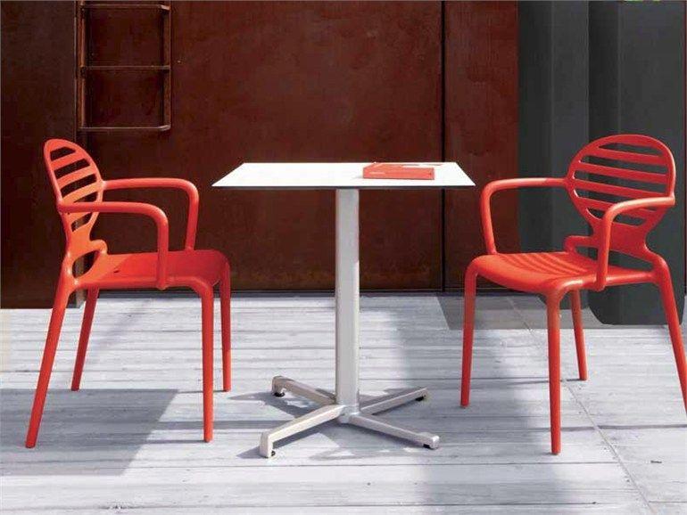 mobilier restaurant table de terrasse basculante domino | mobilier ... - Chaise Et Table De Restaurant