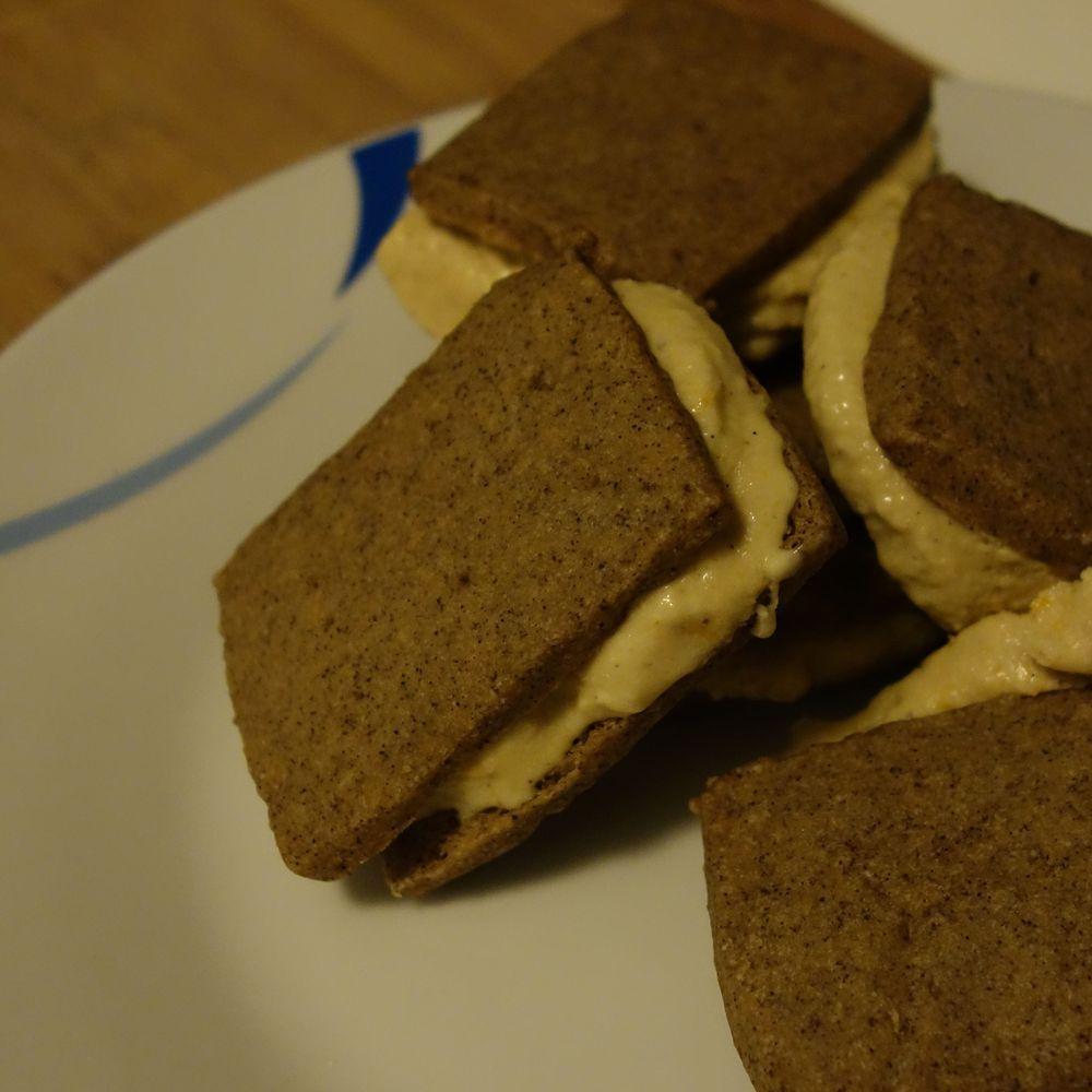 Espresso Shortbread and Burnt Orange Spice Ice Cream Sandwiches #icecreamsandwich