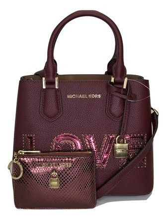 b67c62373783 Michael Kors Adele Md Messenger Bundled with Wallet Merlot Leather Cross  Body Bag. Get the trendiest Cross Body Bag of the season! The Michael Kors  Adele Md ...