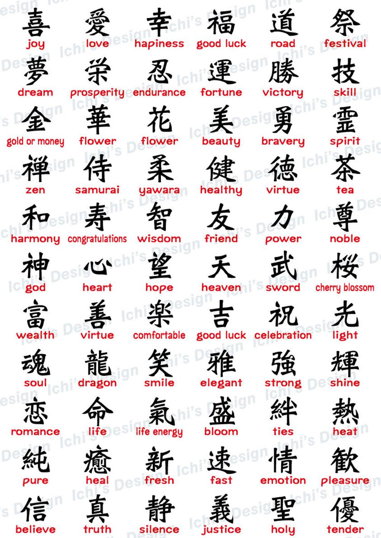Japanese Kanji Set instant download / eps / png |