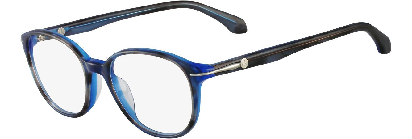 28b35ef1045 Blue hue + rounded frames   perfection with these Calvin Klein  glasses  (style CK5784)
