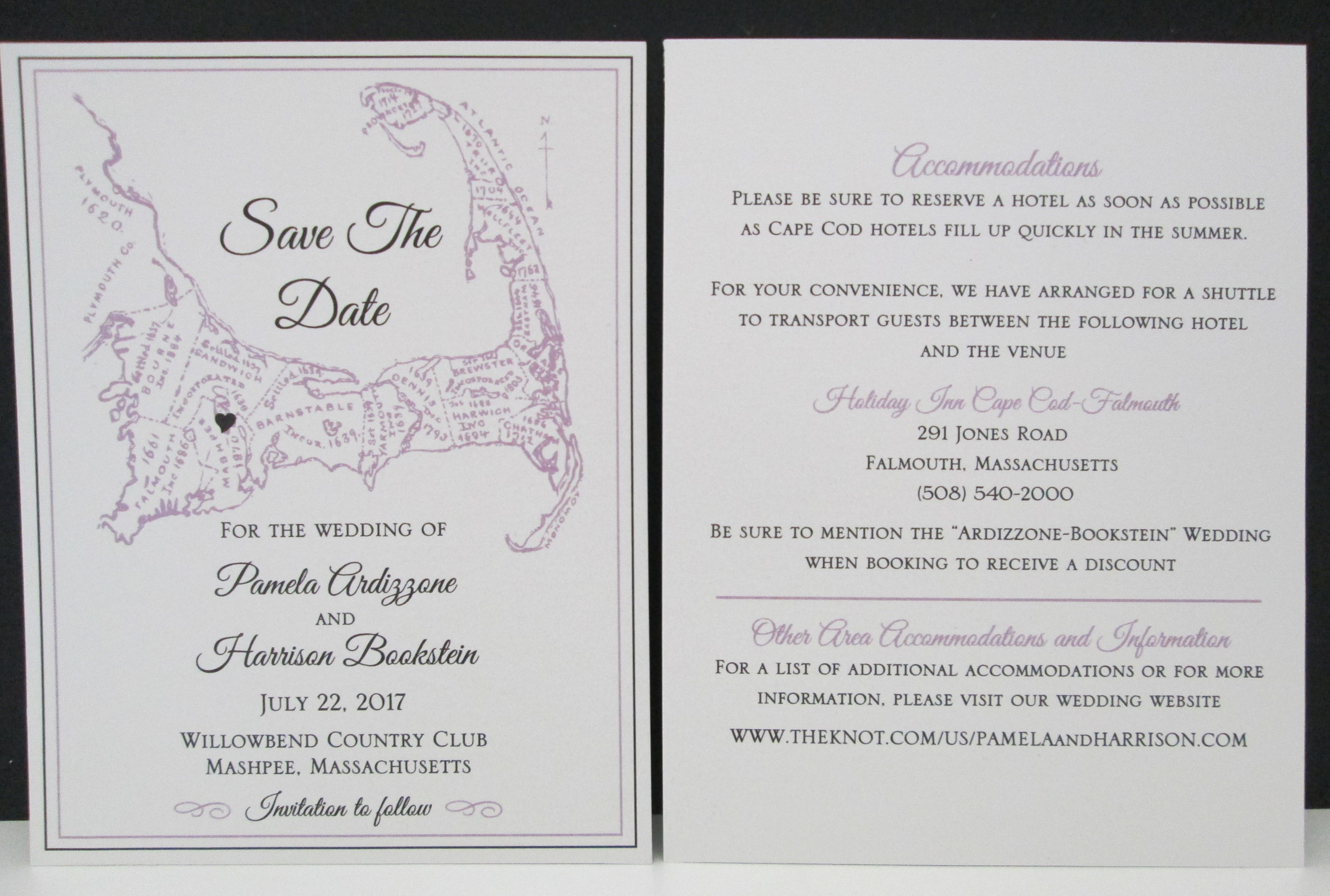 2 sided save the date for a cape wedding save the dates