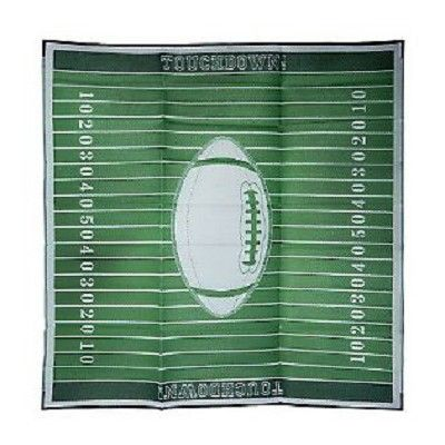FOOTBALL 9X9 Patio Mat. Football fanatic? Then gather your friends and family on the deck, patio, or even at a tailgating party, and enjoy the festivities on this weather-resistant, football-themed mat.  Your Price: $59.99