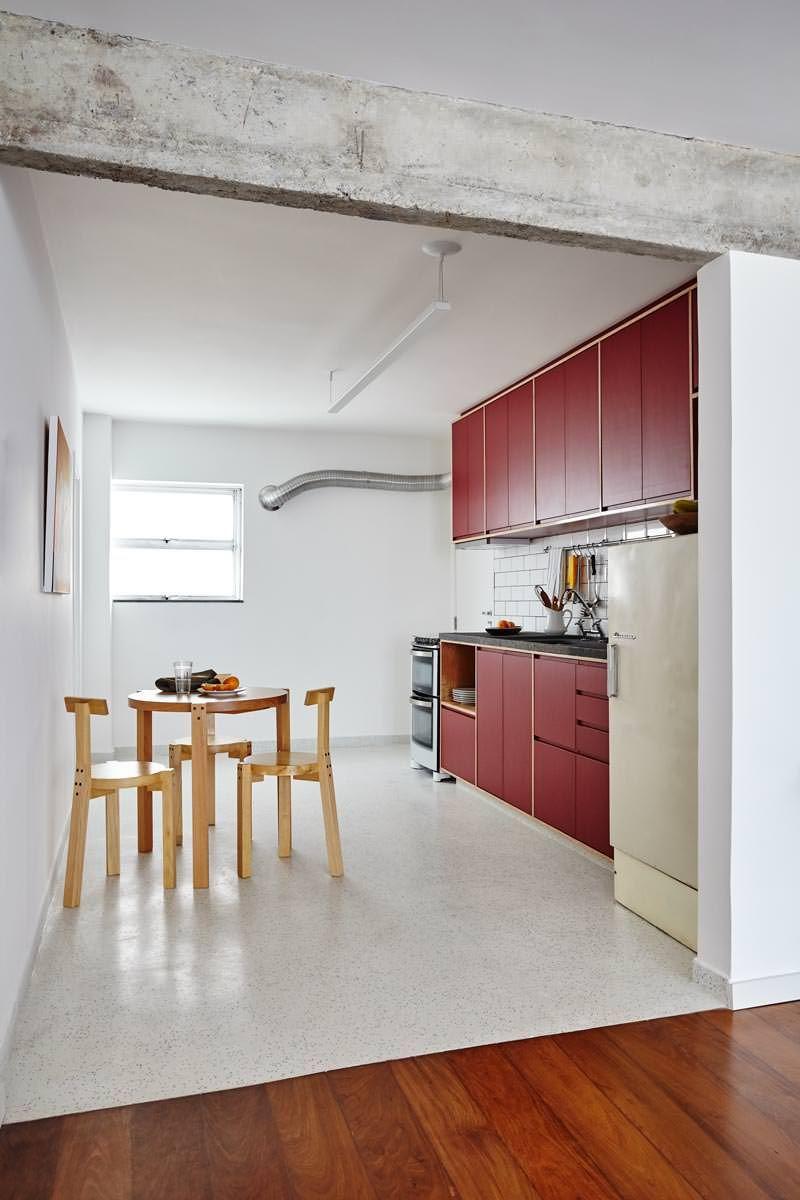 Apartamento da sandra e do andr geladeira vintage bancada de granito e granilite - Piso sandra ...