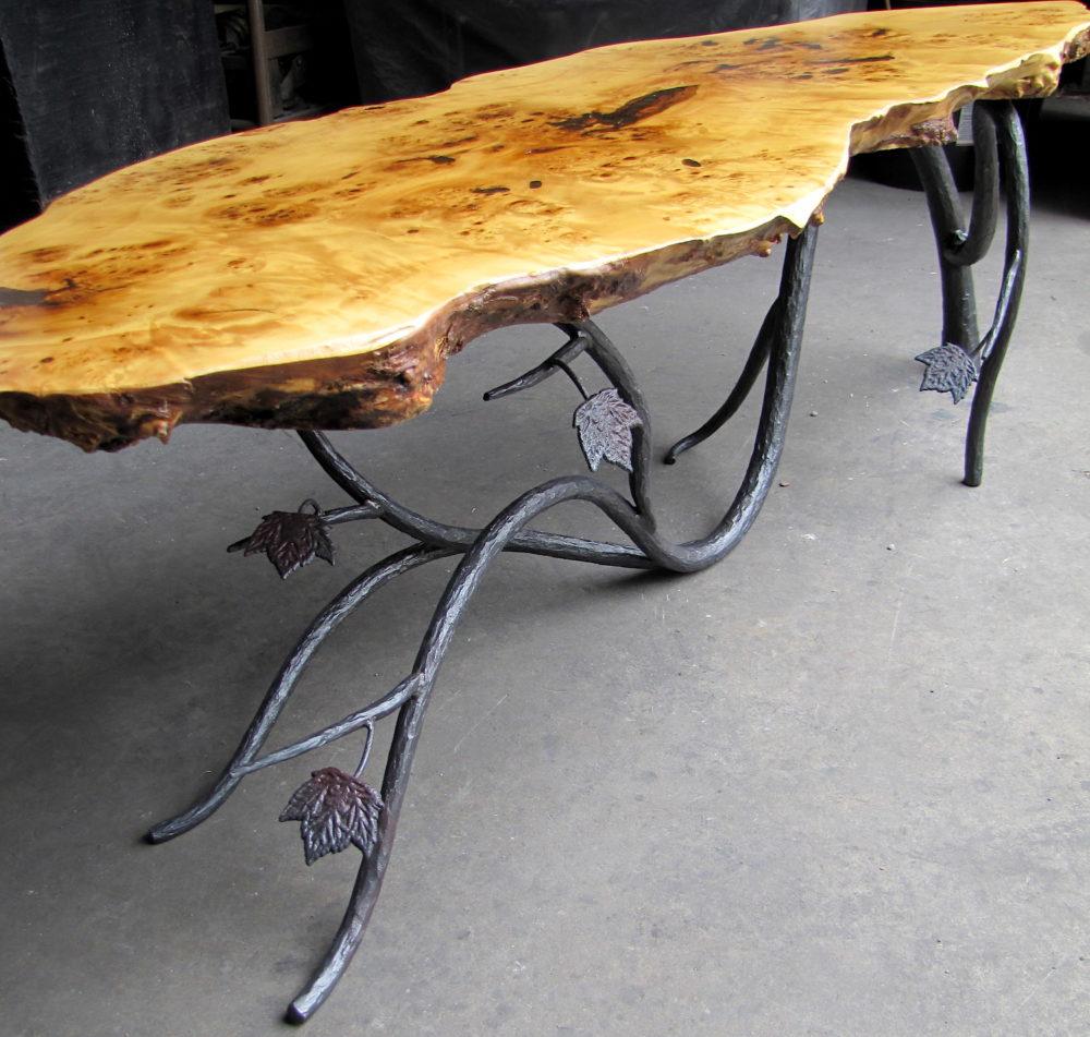 Organic Table Base Mark Puigmarti Metal Furniture Iron Furniture Wrought Iron Furniture [ 951 x 1000 Pixel ]
