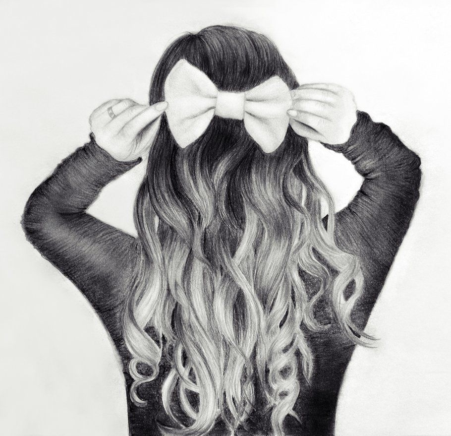 drawings hair | curly hair drawing tumblr deviantART More Like Happy Valentine by ...