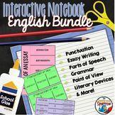 ELA Interactive Notebook Foldable BUNDLE #InteractiveNotebooks #HighSchoolEnglish #MiddleSchoolEnglish